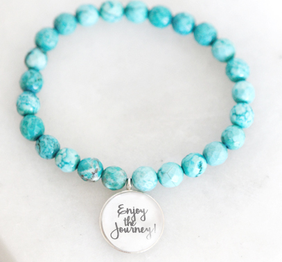 Teal Beads with Charm One-Of-A-Kind