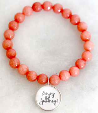 Coral Beads With Charm One-Of-A-Kind